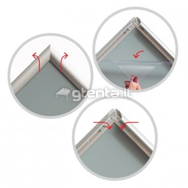 A5 rėmelis su 25 mm profiliu pilkas 5