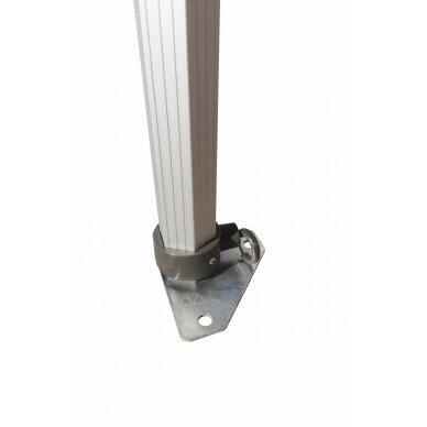 Aliuminė palapinė 3x4,5 LUX50 Balta 2