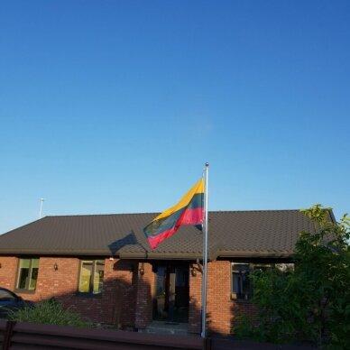 Aliuminis stiebas 4m su Lietuvos valstybine vėliava