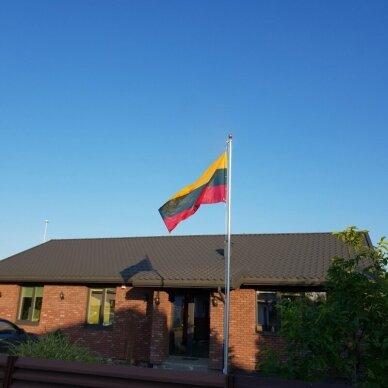 Aliuminis stiebas 5m su Lietuvos valstybine vėliava