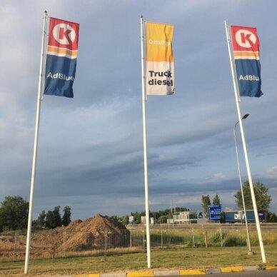 Baneriniai vėliavų stiebai su užraktu 3