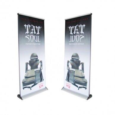 DVIPUSIS reklaminis stendas ROLL UP 85x200 cm 4