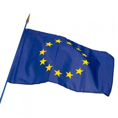 Europos Sąjungos vėliava 100 x 170 cm maunama ant koto 5