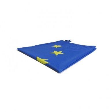 Europos Sąjungos vėliava 100 x 170 cm maunama ant koto 3
