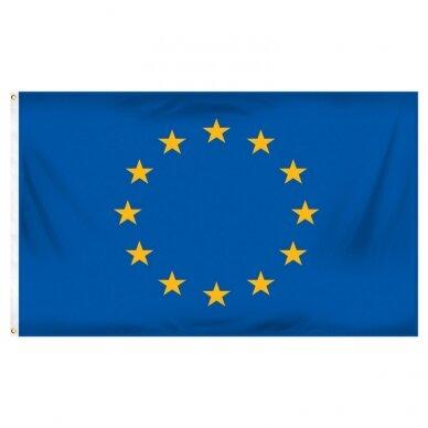 Europos Sąjungos vėliava 100 x 170 cm maunama ant koto