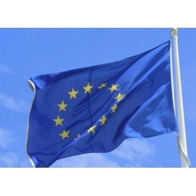 Europos Sąjungos vėliava 100 x 170 rišama prie stiebo
