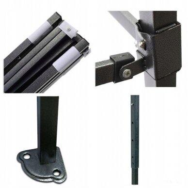 Greito surinkimo palapinė 3x4,5 Tamsiai žalia Steel 30 2