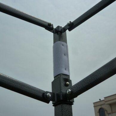 Greito surinkimo palapinė 3x4,5 Tamsiai žalia Steel 30 4