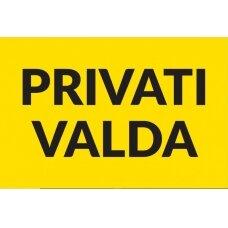 Informacinė lentelė Privati Valda II