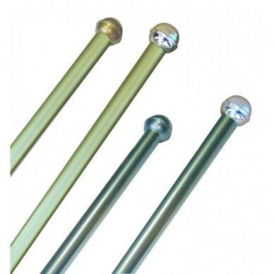 Kotas aliuminis 2,5m Ø=25mm iš 2 dalių