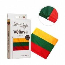 Lietuvos vėliava trispalvė 100 x 170 cm su žiedais (aukštos kokybės)