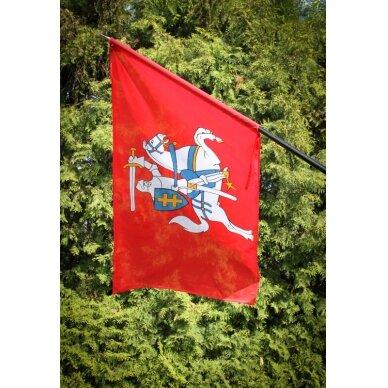 Lietuvos istorinė vėliava 100 x 170 cm maunama ant koto (aukštos kokybės) 3