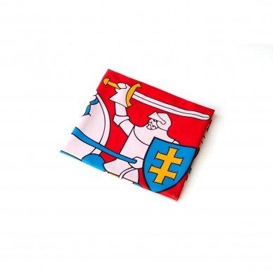 Lietuvos istorinė vėliava 112 x 70 cm su kišene ir raišteliais
