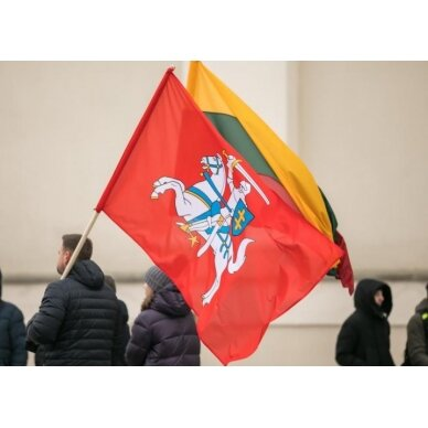 Lietuvos istorinė vėliava 150 x 250 cm maunama ant koto
