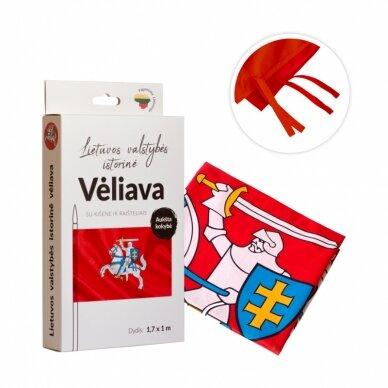 Lietuvos istorinės vėliavos 100 x 170 cm KOMPLEKTAS 2 vnt. (aukštos kokybės) 5