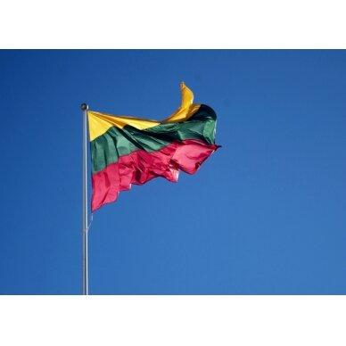 Lietuvos Respublikos vėliava 150 x 250 cm rišama prie stiebo 2