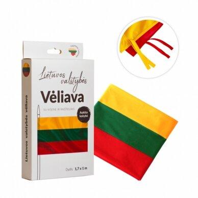 Lietuvos vėliava trispalvė 100 x 170 cm maunama ant koto (aukštos kokybės)