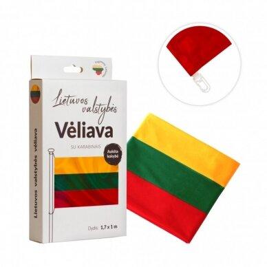 Lietuvos vėliava trispalvė 100 x 170 cm rišama prie stiebo (aukštos kokybės)