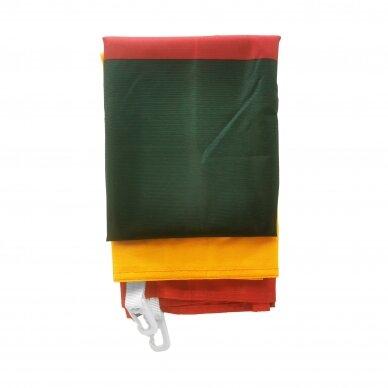 Lietuvos vėliava trispalvė 100 x 170 cm rišama prie stiebo (aukštos kokybės) 3