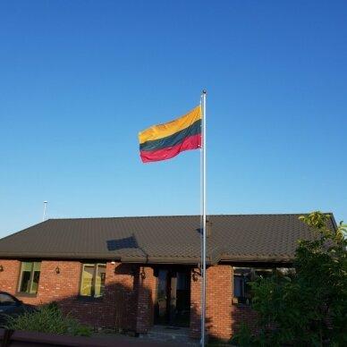 Lietuvos vėliava trispalvė 100 x 170 cm su žiedais (aukštos kokybės) 3