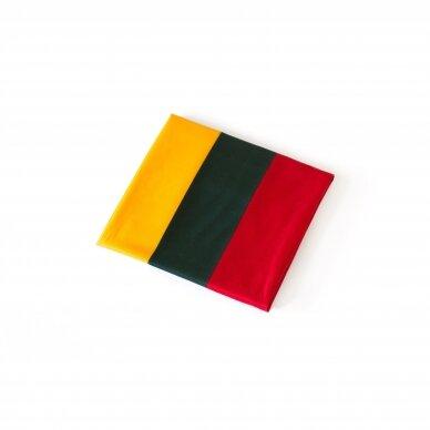 Lietuvos vėliava trispalvė 112 x 70 cm su kišene ir raišteliais