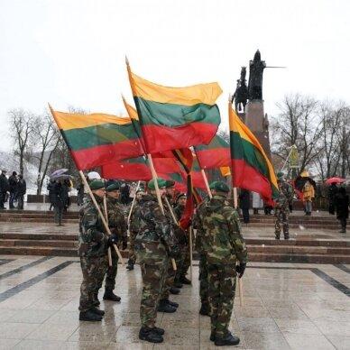 Lietuvos vėliava trispalvė siūta 100 x 170 cm maunama ant koto 3