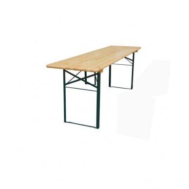 Medinis stalas 220x50