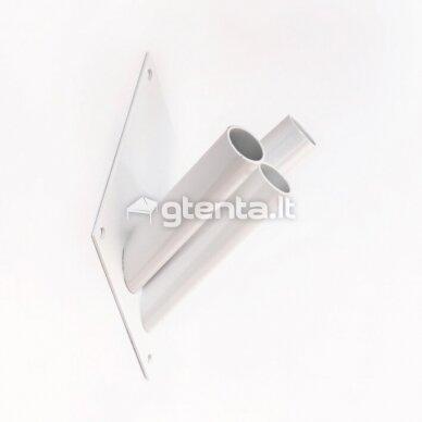 Metalinis trivietis laikiklis D22mm BALTAS 2