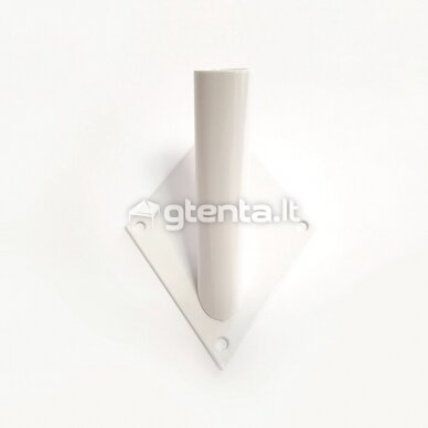 Metalinis vienvietis laikiklis D22mm BALTAS 2