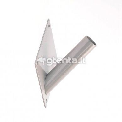 Metalinis vienvietis laikiklis D22mm PILKAS