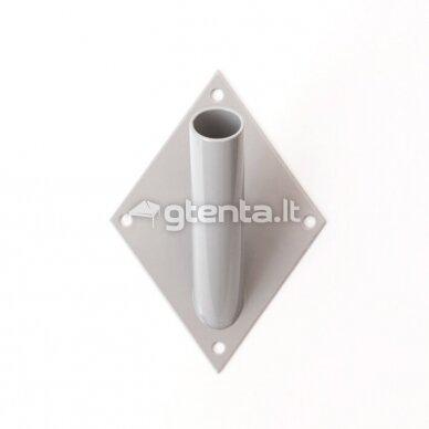 Metalinis vienvietis laikiklis D22mm PILKAS 2