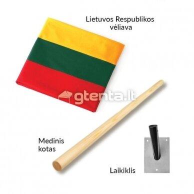 """MINI vėliavos komplektas """"Trispalvė"""""""