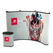 Mobili parodų sienelė POP UP 3×3 + Transportavimo dėžė