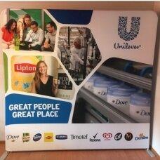 Mobili reklaminė sienelė TUBE 3m tiesios formos