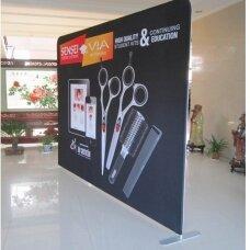 Mobili reklaminė sienelė TUBE 4m tiesios formos