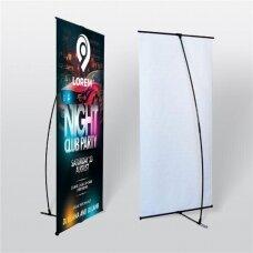 Mobilus reklamos stendas L banner 60x160 cm
