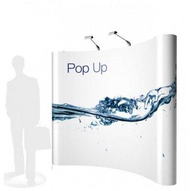 Mobili parodų sienelė POP UP 3×3