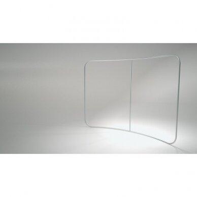 Mobili parodų sienelė TUBE C formos su įlenkimu 4m 2