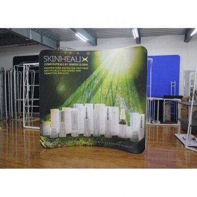 Mobili reklaminė sienelė TUBE 3m lenktos formos 6