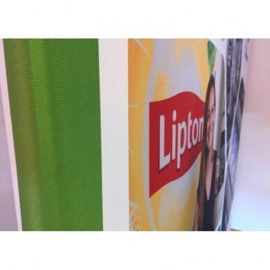 Mobili reklaminė sienelė TUBE 4m tiesios formos 2