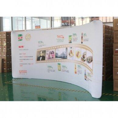 Mobili reklaminė sienelė TUBE 5m lenktos formos