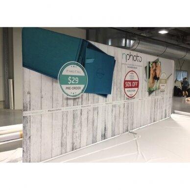 Mobili reklaminė sienelė TUBE 5m tiesios formos
