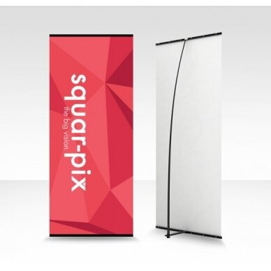 Mobilus reklamos stendas L banner 80x180 cm 2