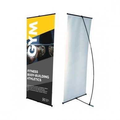 Mobilus reklamos stendas L banner 80x180 cm