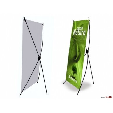 Mobilus reklamos stendas X banner 60x160 cm