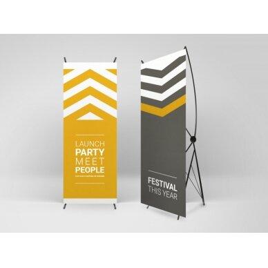 Mobilus reklamos stendas X banner 80x180 cm 2