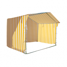 Prekybinė palapinė 2×2 Balta - Geltona