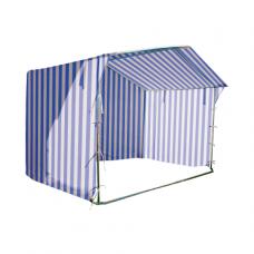 Prekybinė palapinė 3×3 Balta - Mėlyna