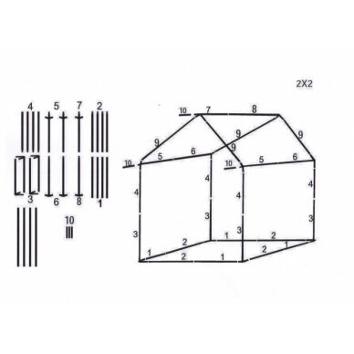 Prekybinė palapinė 2×2 Tamsiai Žalia 4