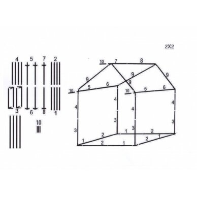 Prekybinė palapinė 2x2 Balta 4
